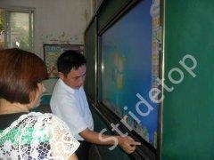 武汉市腾亚科技有限公司86英寸触控液晶一体机在赤壁遍地开花